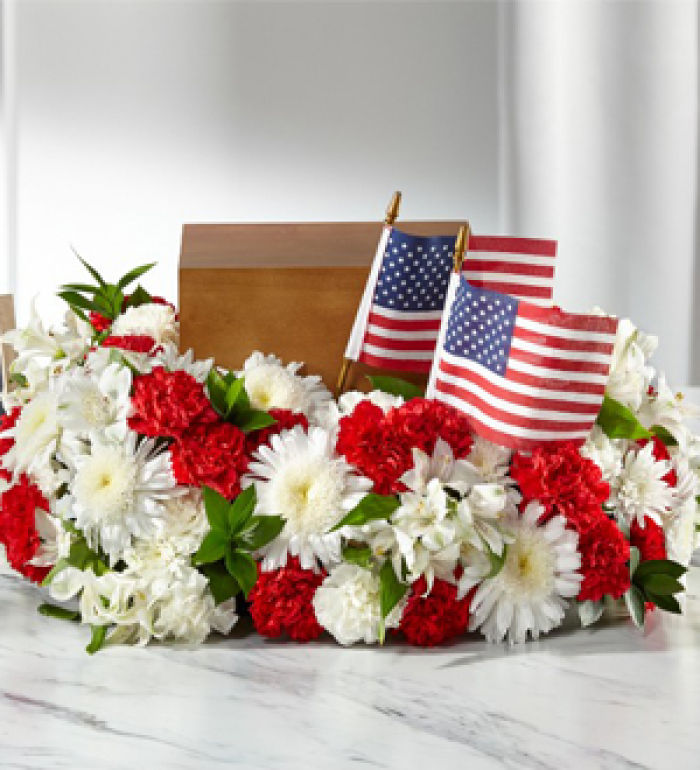 Cremation: Wreath Spirit of Patriotism