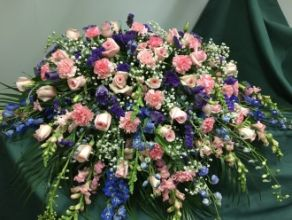 Casket Cover: Pink & Blue