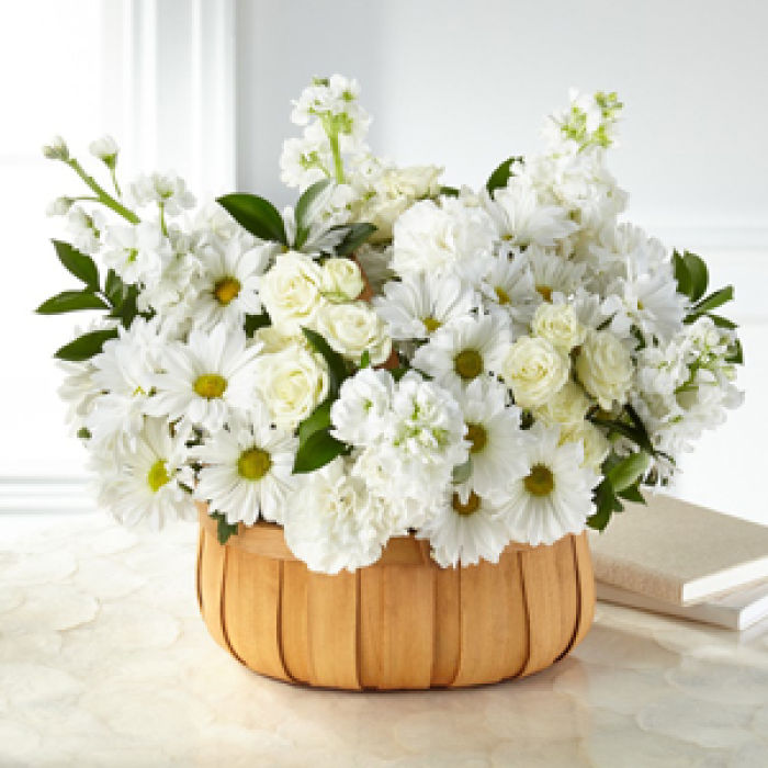 Graceful Garden Basket with whites