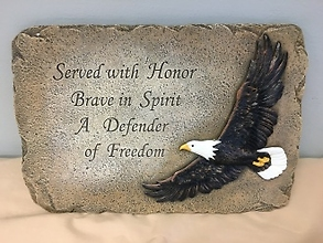Plaque: Patriotic Service Eagle
