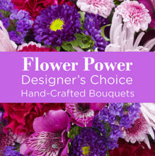 Deal: Purple Colors Florist Designed Bouquet