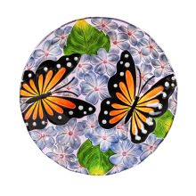 Birdbath: 2GB6890 Butterflies & Dogwood