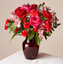 FTD Valentine Bouquet in Ruby Red vase