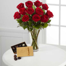 Rose: Red Rose and DeBrand Chocolate Box
