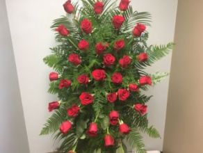 Standing Spray: Classic Red Roses