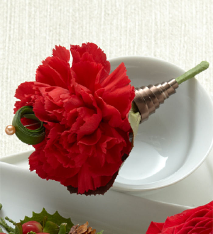 Bout: Red Carnation Boutonniere