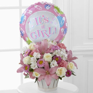 Baby: Girls Are Great! Bouquet with balloon