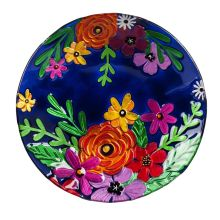 Birdbath: 2GB6896 Midnight Bright Florals