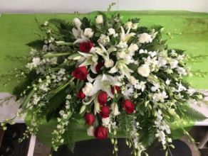 Casket Cover: White