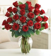 Rose: 25 Red Roses In Vase