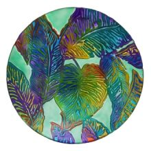 Birdbath: 2GB839 Tropical Palm Leaves 2GB839